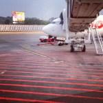 menuju pesawat