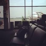ruang tunggu Bandara Halim Perdanakusuma