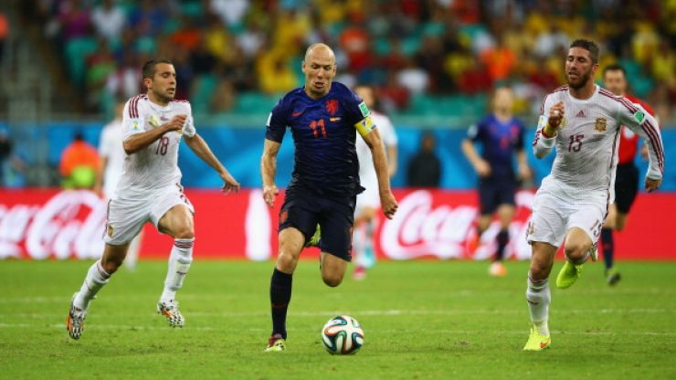 Arjen Robben ran faster than any footballer ever recorded on his ...