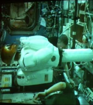 Robonaut 2 s'est réveillé hier sur l'ISS  (Crédits : NASA)