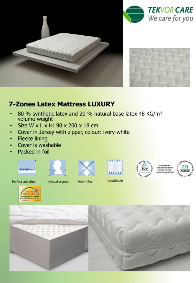 7 Zones Latex Mattress Luxury 1 Pages