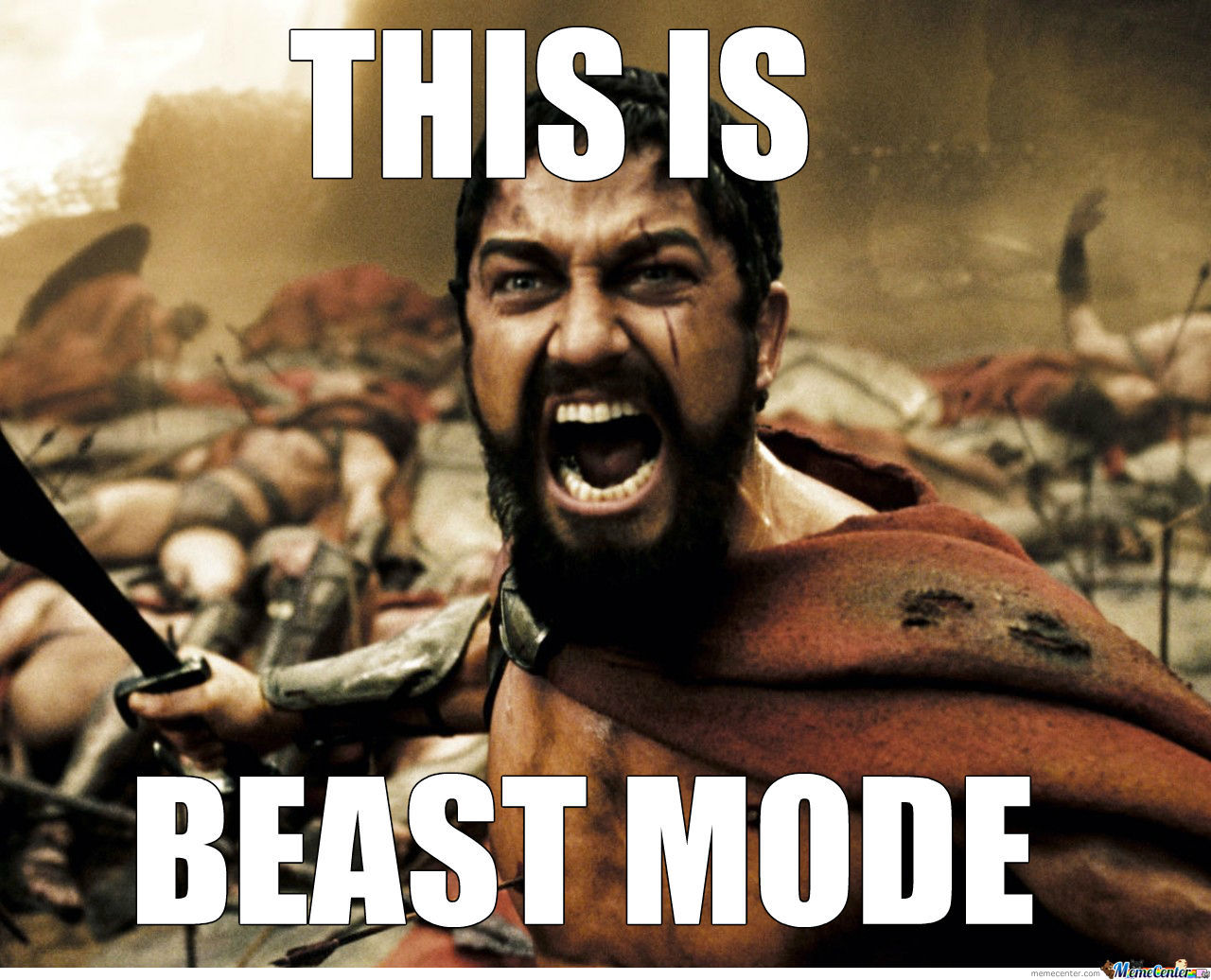 Image result for beast mode meme
