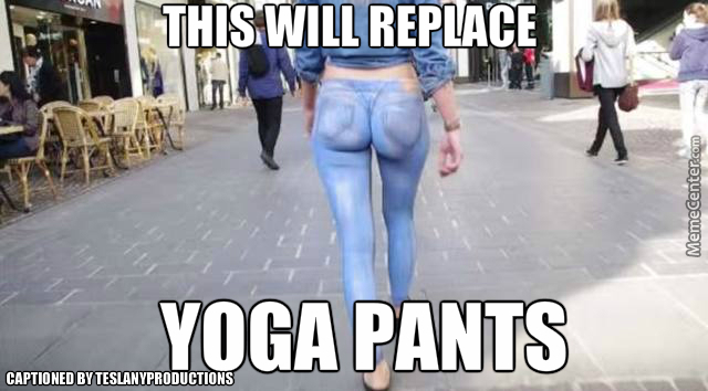 Body Paint Will Replace Yoga Pants By Teslanyproductions Meme Center