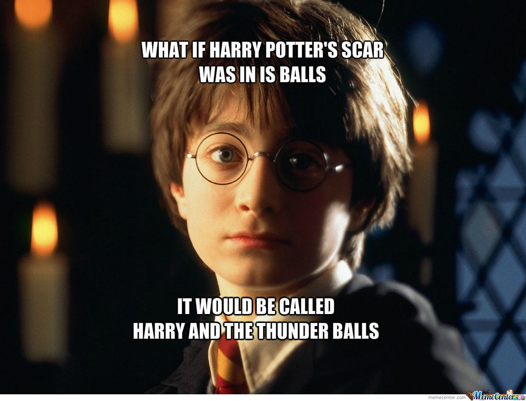 Harry Potter If The Scar Was In Is Balls By Antonio