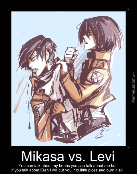 25 Best Memes About Levi And Mikasa Levi And Mikasa Memes