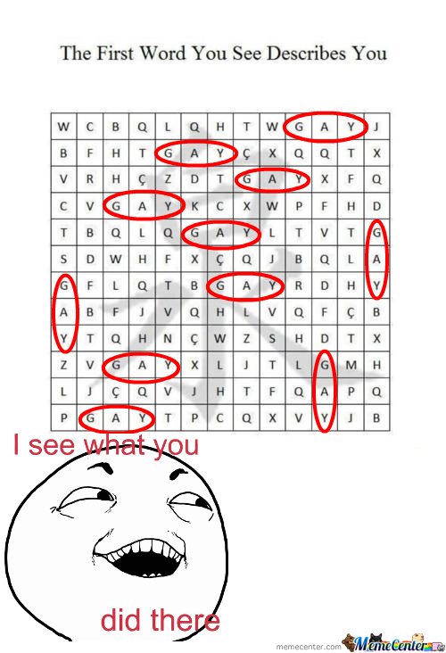 The First Word You See Describes You Gif Lig Tib Gay Rid Hit Tag