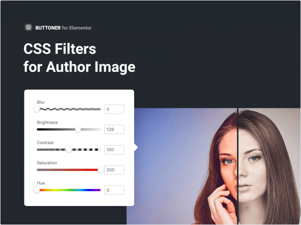 CSS Filters for Author Image