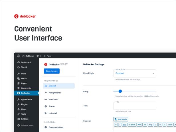 Convenient User Interface