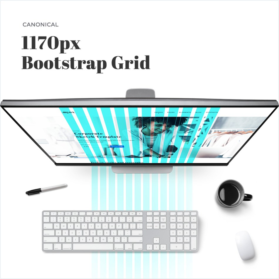 Canonical 1170px Bootstrap Grid