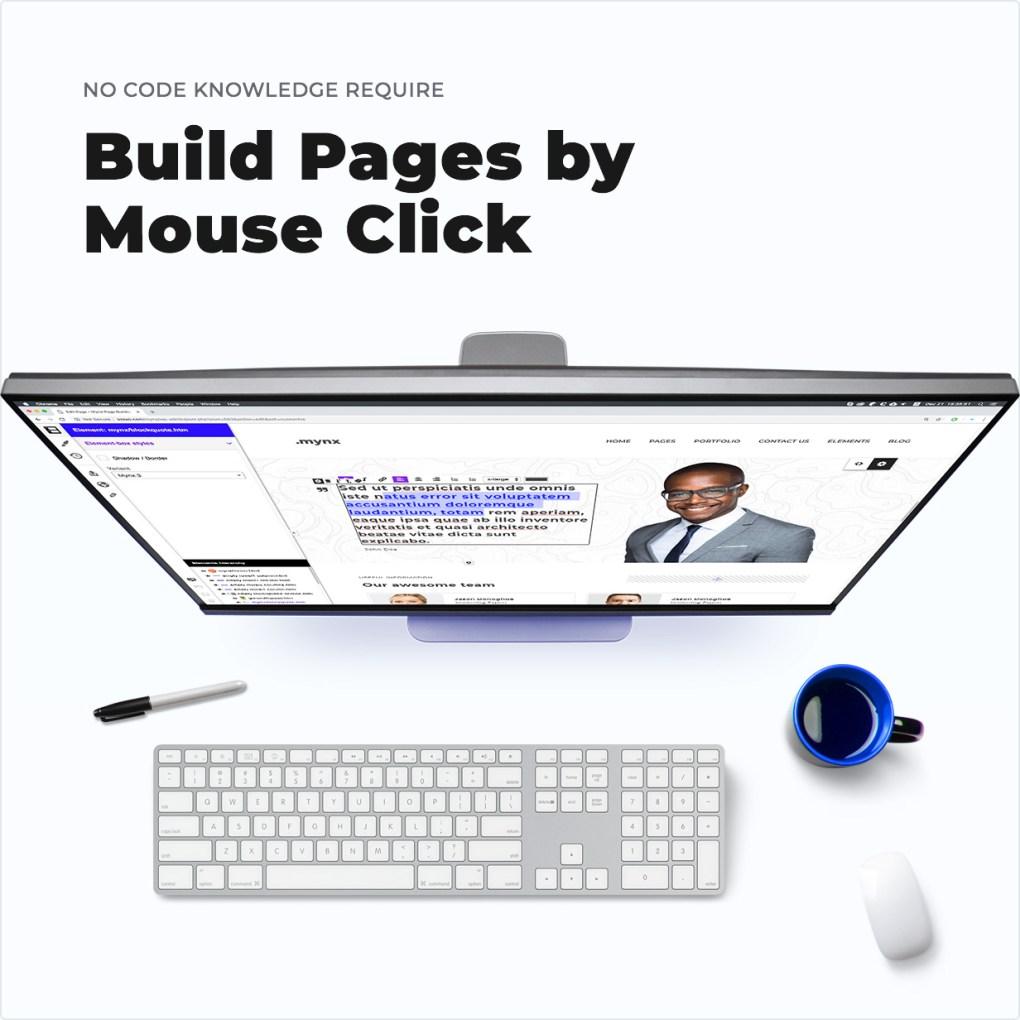 Pas besoin de connaissances de code-construire des pages par clic de souris