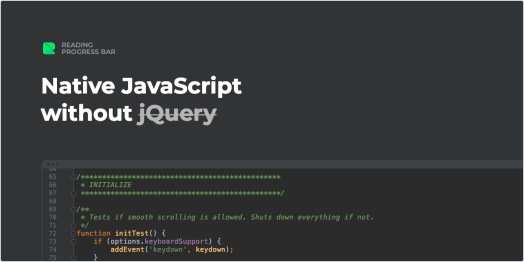 Native JavaScript without jQuery
