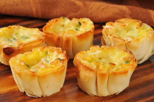 mini tartes au thon en feuilles de brick
