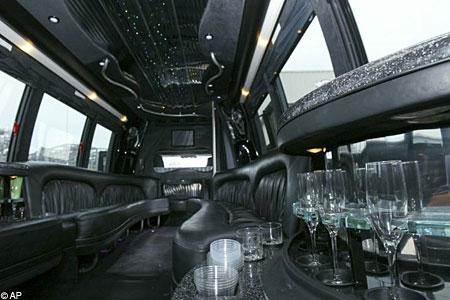 Brothel bus interior