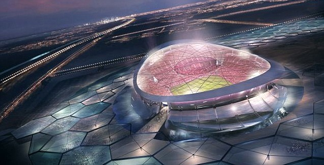 A plan of the Lusail Stadium, where the World Cup final will the held in Qatar in 2022 (Pic: Getty)