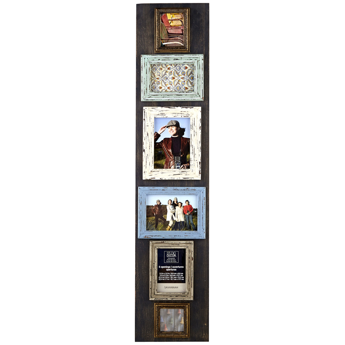 Rustic 6 Opening Collage Frame Savannah By Studio Dcor