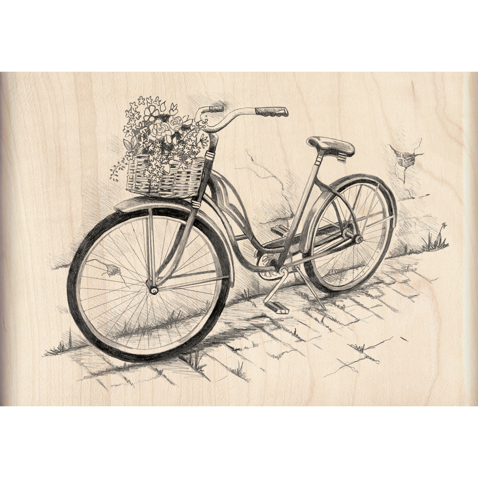 Buy The Inkadinkado Sketches Stamp Bicycle At Michaels
