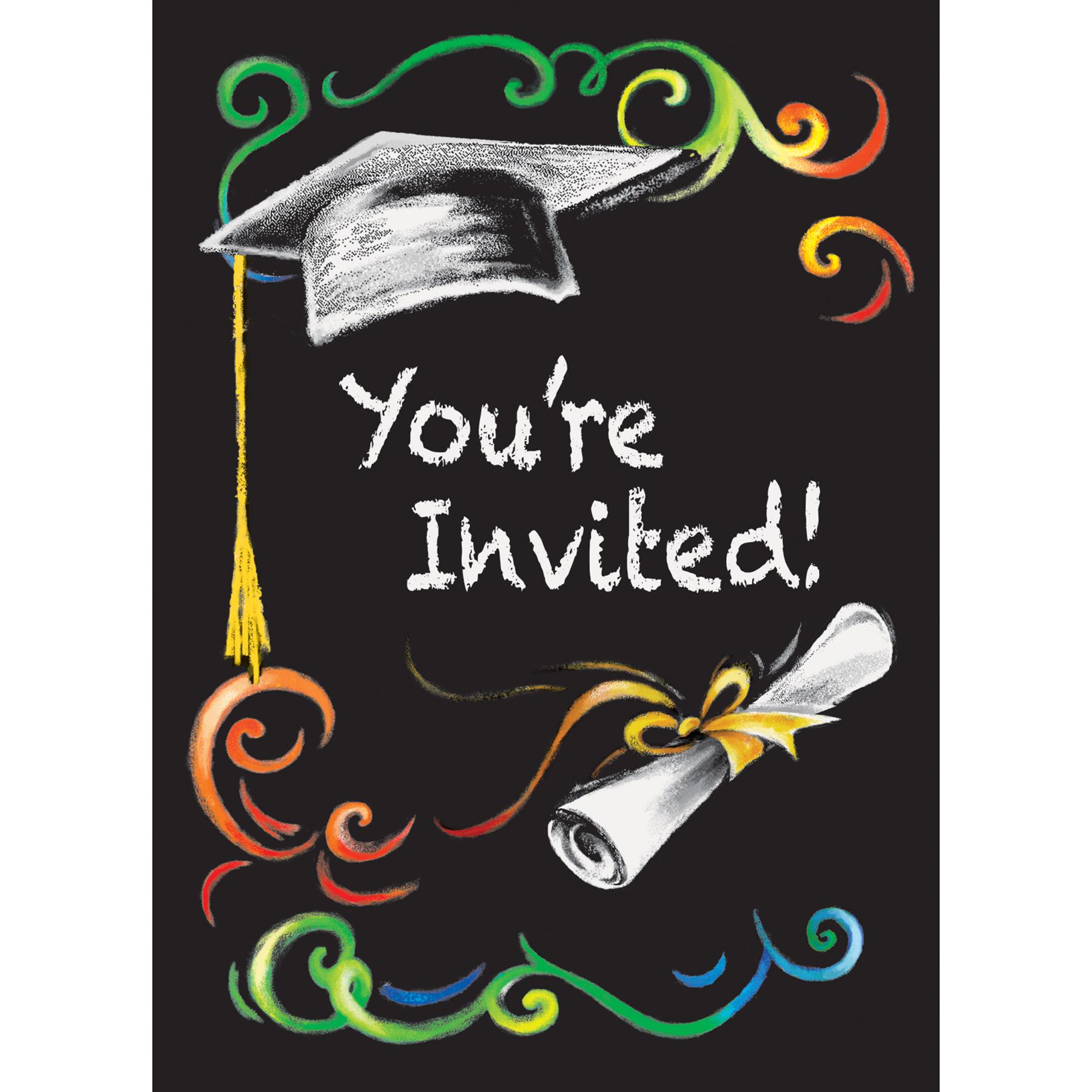 Chalkboard Graduation Party Invitations Graduation Party