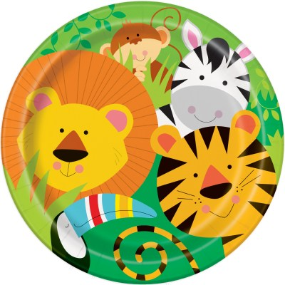 jungle animals party plates