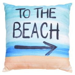 To The Beach Pillow By Ashland
