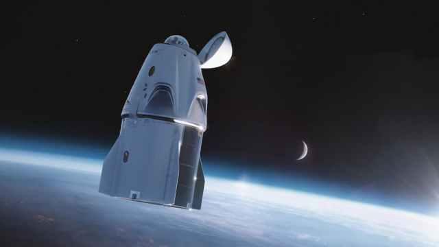 La Impresión artística de la Crew Dragon Resilience en el espacio – SpaceX
