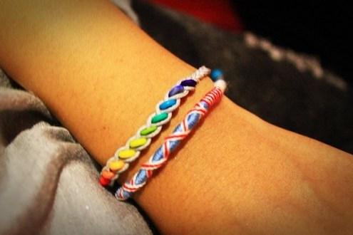 衝浪繩》紅橙黃綠藍靛紫彩虹手