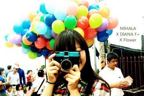新社花海》喔耶紅橙黃綠藍靛紫拿氣球逛花海