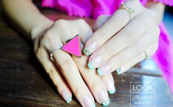 東區晶漾凝膠九月小記錄:粉嫩嫩的Tiffany綠清爽法式 超簡約又耐看