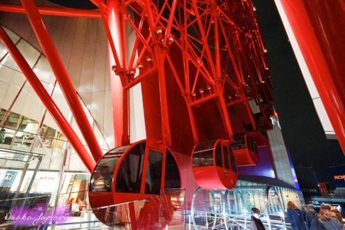 日本》大阪梅田紅色摩天輪HEP FIVE 大阪周遊卡免費搭 還能自己播音樂超嗨