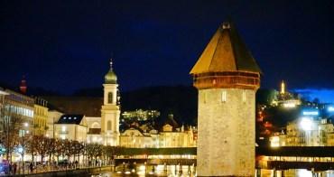 【瑞士 Luzern】琉森一日遊&散步景點地圖:盧森必遊卡貝爾橋、天鵝廣場、獅子紀念碑,百年巧克力店&米其林推薦美食