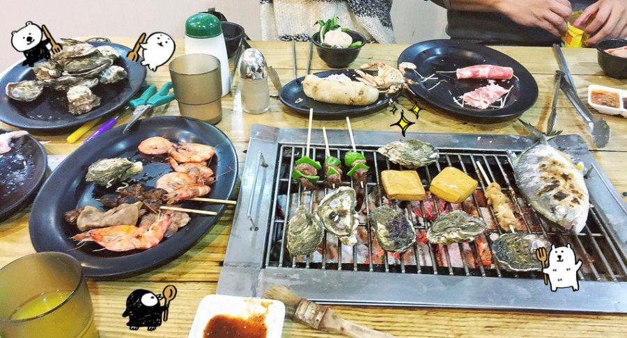 宜蘭壯圍美食 海世界複合式碳烤 碳烤小火鍋吃到飽 整條鮮魚燒肉自助吧 火烤兩吃 免費停車場