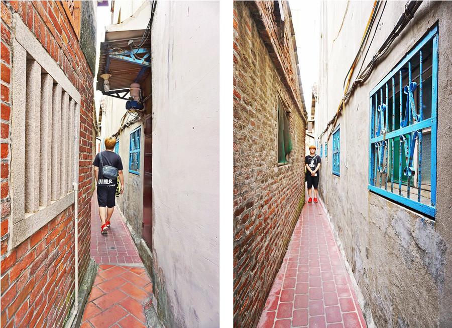 彰化鹿港景點   鹿港老街 君子巷 鹿港第一窄巷 比摸乳巷還要更窄許多