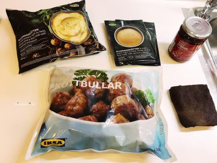 IKEA美食【瑞典肉丸】肉丸奶醬/馬鈴薯泥/有機越橘果醬.好好吃的瑞典烤肉丸買回家自己DIY料理!在家也能輕鬆吃異國料理!
