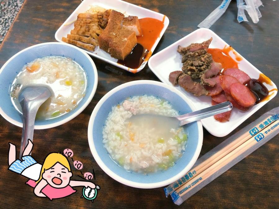 台中北區美食 無名肉粥 梅川東路凌晨早餐 銅板美食 熱粥一碗只要15元