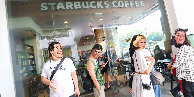 菲律賓美食 STARBUCKS COFFEE 星巴克 Harbor Point Subic Bay 價格比台灣便宜!Harbor Point Mall 購物商場1F