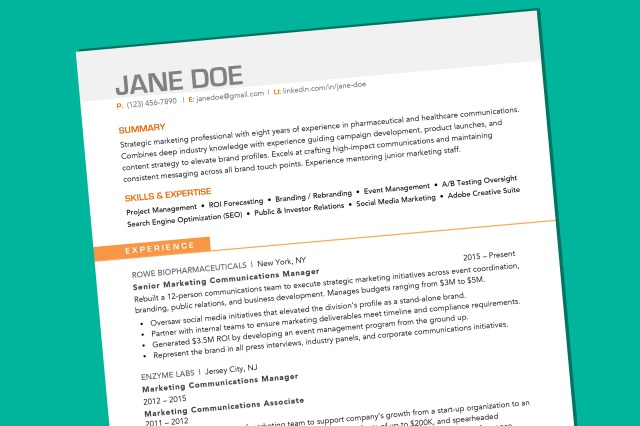 What Your Resume Should Look Like in 11  Money