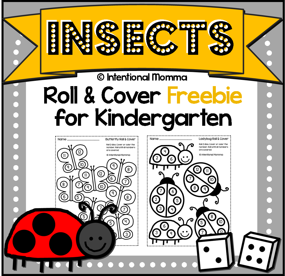 Free Printable Kindergarten Dice Worksheets