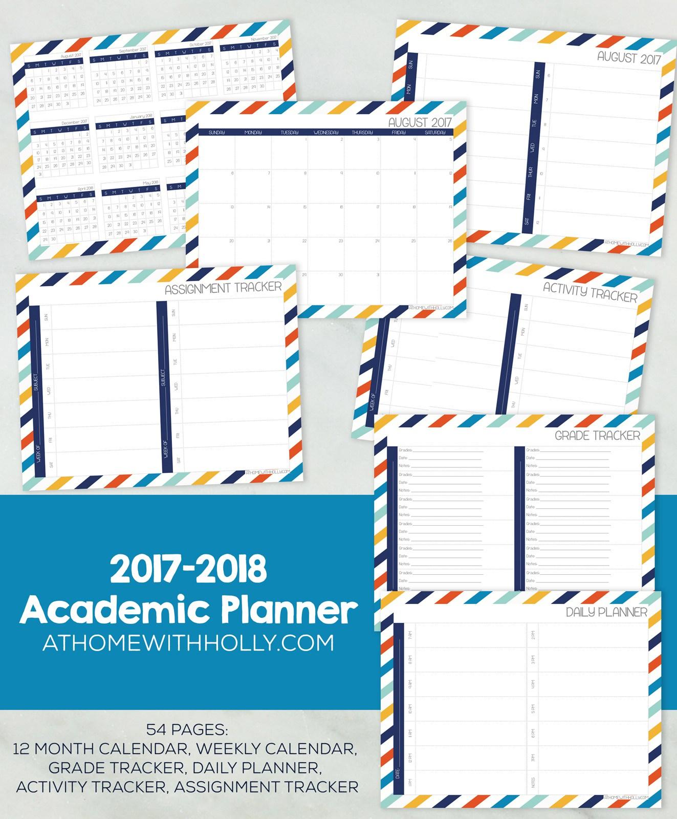 Free Printable Student Academic Planner