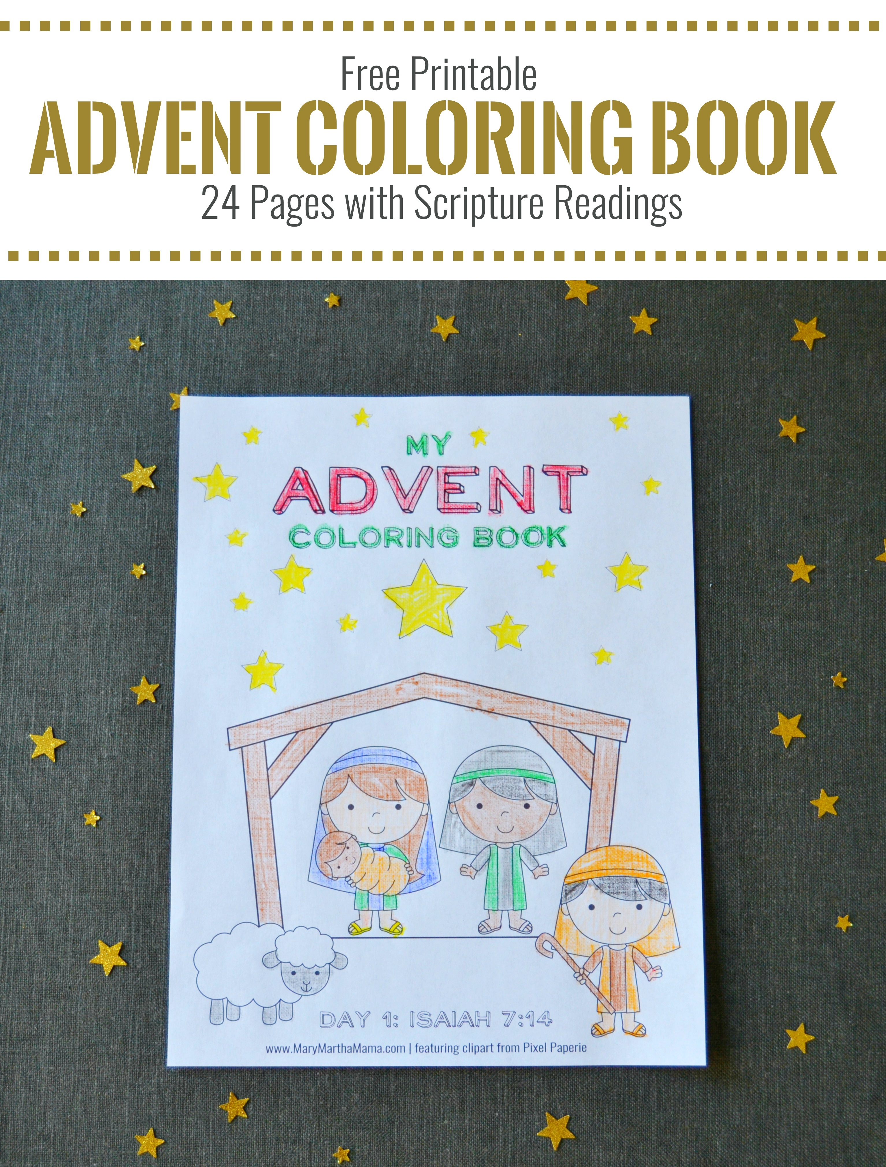 Free Printable Advent Coloring Book For Kids