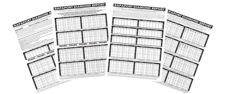 學會看Rapaport鑽石價格表,提供免費借閱服務