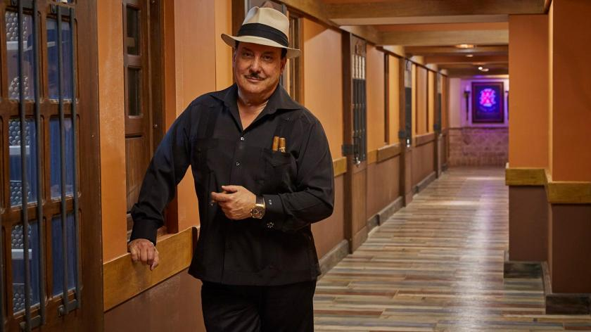 Carlos Fuente Jr. inside his new Dominican cigar factory
