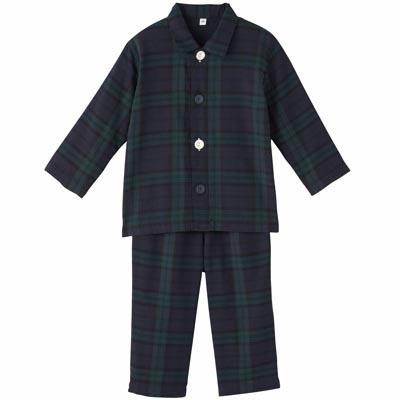 綿二重ガーゼお着替えパジャマ・長袖(ベビー)