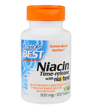 DOCTOR'S BEST Time-Release Niacin 500mg 120 tab.