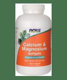 NOW FOODS Calcium & Magnesium Softgels 240 kaps.