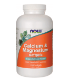 NOW FOODS Calcium & Magnesium Softgels 240 kaps.