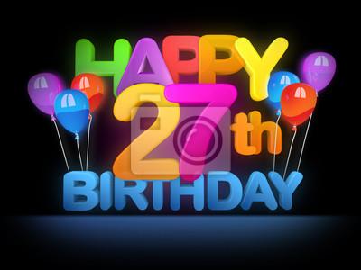 Geburtstagskarten Zum Ausdrucken 27 Geburtstag