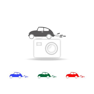 Hochzeit Auto Symbol Prinzipdarstellung Der Auto Vektor Symbol