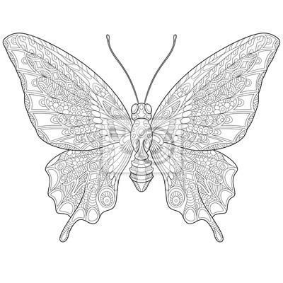 Imagenes De Mariposas Para Dibujar Animadas On Log Wall