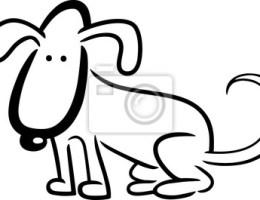 Dibujos Animados Para Dibujar Perros On Log Wall