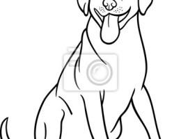 Perro Dibujo Animado Para Colorear Dibujos Para Colorear