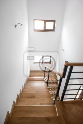 escaliers de salon design minimaliste moderne escalier en bois images myloview